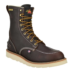 "Mens Thorogood 8"" Steel Toe WP Wedge Sole Work Boot"