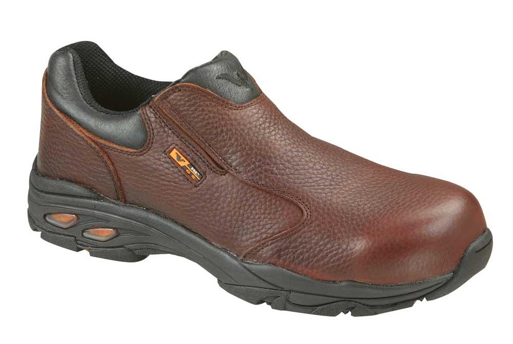 thorogood composite toe slip on metal free work shoe