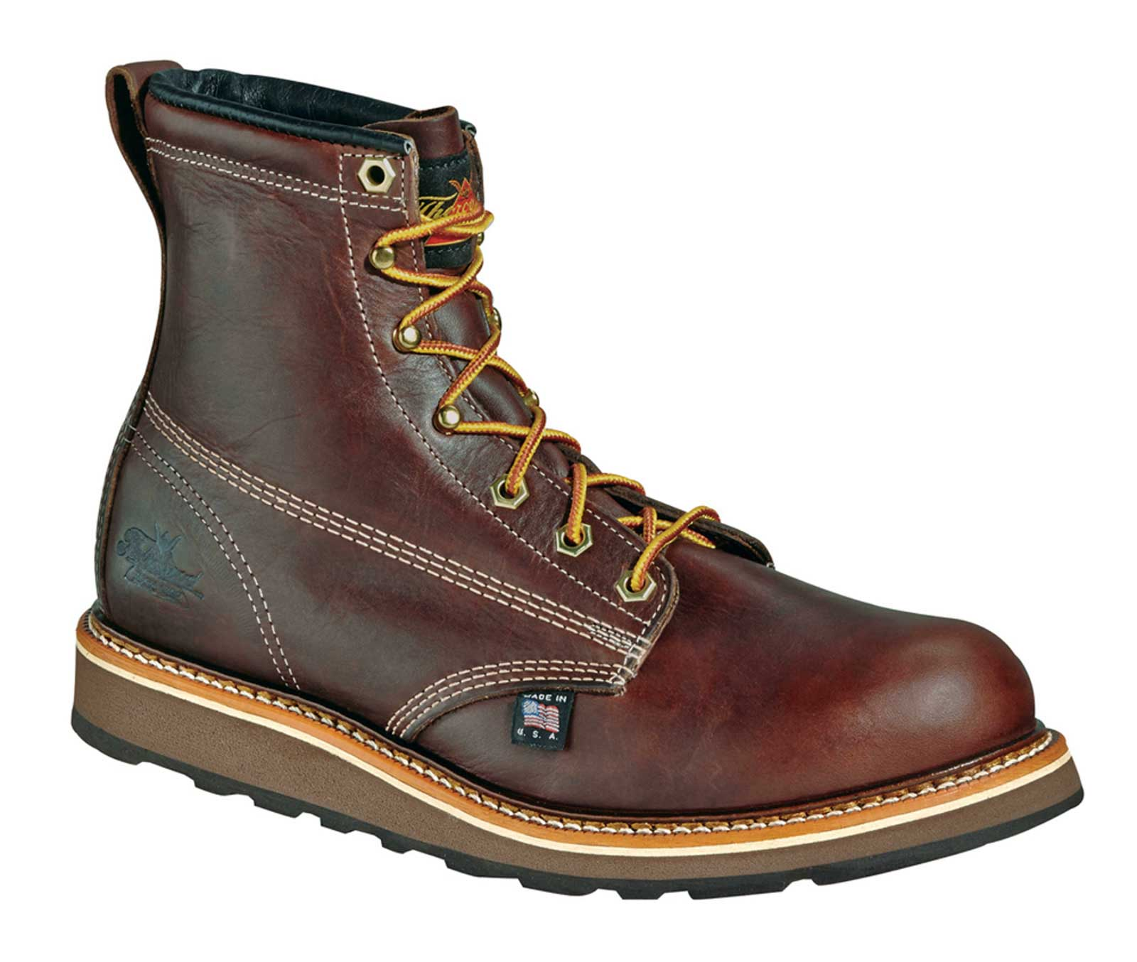 thorogood 6 quot wedge sole work boot u s a made 6 quot work boot