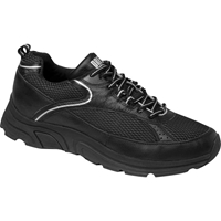 Drew Shoes - Aaron - Black Leather / Mesh - Athletic Shoe