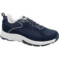Drew Shoes - Aaron - Navy Suede / Mesh - Athletic Shoe
