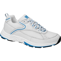 Drew Shoes - Athena - White Leather / Mesh with Blue - Athletic Shoe