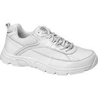 Drew Shoes - Athena - White / Silver Leather - Athletic Shoe