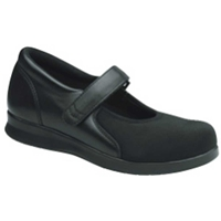 Drew Shoes - Bloom II - Black Stretch Material - Casual, Dress
