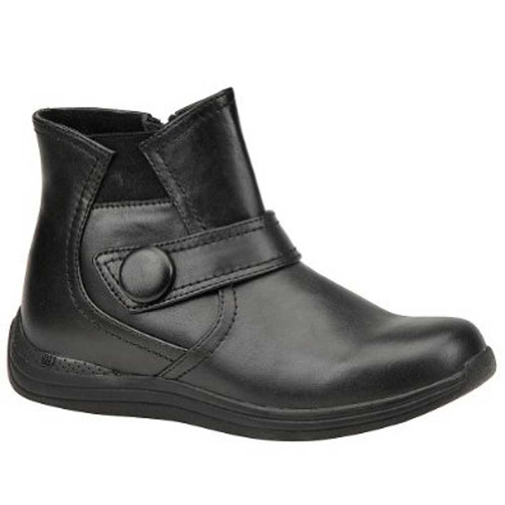 Drew Shoes - Button Up - Black Leather - Boot with Button Closure