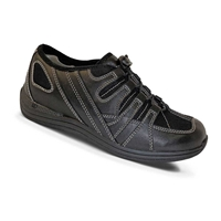Drew Shoes - Daisy - Black Leather and Mesh - Athletic / Casual Shoe