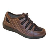 Drew Shoes - Daisy - Brown Leather and Mesh - Athletic / Casual Shoe