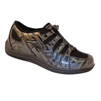 Drew Shoes - Grey Marble - Brown Leather and Mesh - Athletic / Casual Shoe