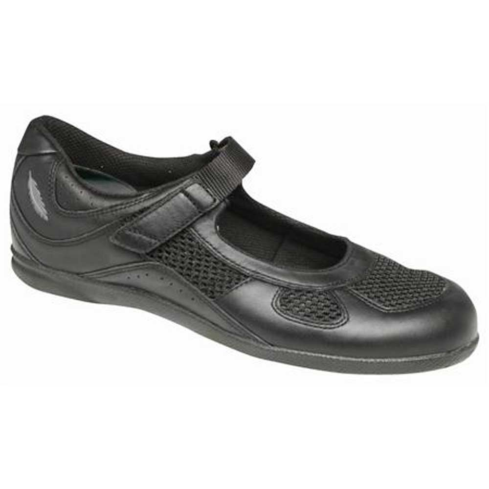 Drew Shoes - Delite - Black Leather / Mesh - Casual Shoe