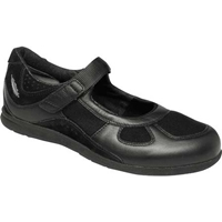 Drew Shoes - Delite - Black Stretch Leather / Mesh - Casual Shoe