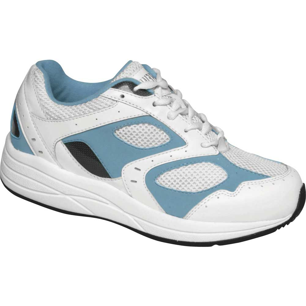 Drew Shoes - Flare - White and Blue Leather Mesh - Athletic