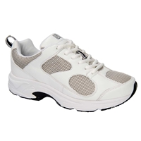 Drew Shoes - Flash - White Leather / Grey Mesh - Athletic Shoe