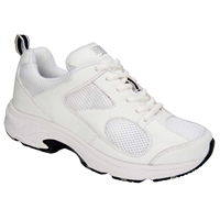 Drew Shoes - Flash - White Leather / White Mesh - Athletic Shoe