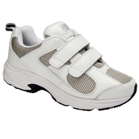 Drew Shoes - Flash II V - White Leather / Grey Mesh - Athletic Shoe