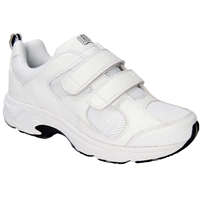 Drew Shoes - Flash II V - White Leather / White Mesh - Athletic Shoe