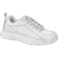 Drew Shoes - Helia - White / Silver Leather - Athletic Shoe