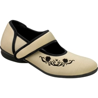 Drew Shoes - Jada - Ivory Stretch Material - Casual Shoe