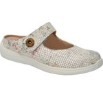 Drew Shoes - Juniper - White Floral Print Leather - Casual, Dress
