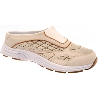 Drew Shoes - Juno - Cream Suede / Mesh with Brown - Athletic Shoe
