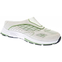 Drew Shoes - Juno - White Suede / Mesh with Green - Athletic Shoe