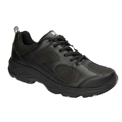 Drew Shoes - Lightning II - Black Leather / Mesh - Athletic Shoe