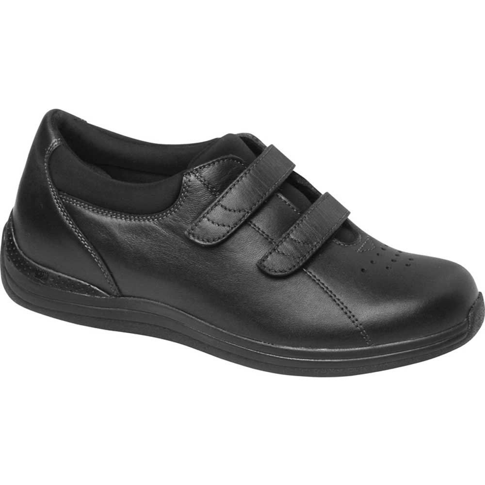 Drew Shoes - Lotus - Black Full Grain Leather - Casual, Dress