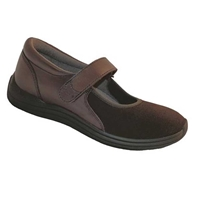 Drew Shoes - Magnolia - Brown Leather and Lycra (Stretch) - Casual Shoe