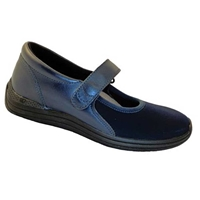 Drew Shoes - Navy - Brown Leather and Lycra (Stretch) - Casual Shoe
