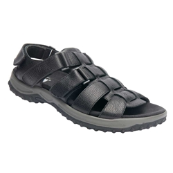 Drew Shoes - Mason - Black Leather - Sandal