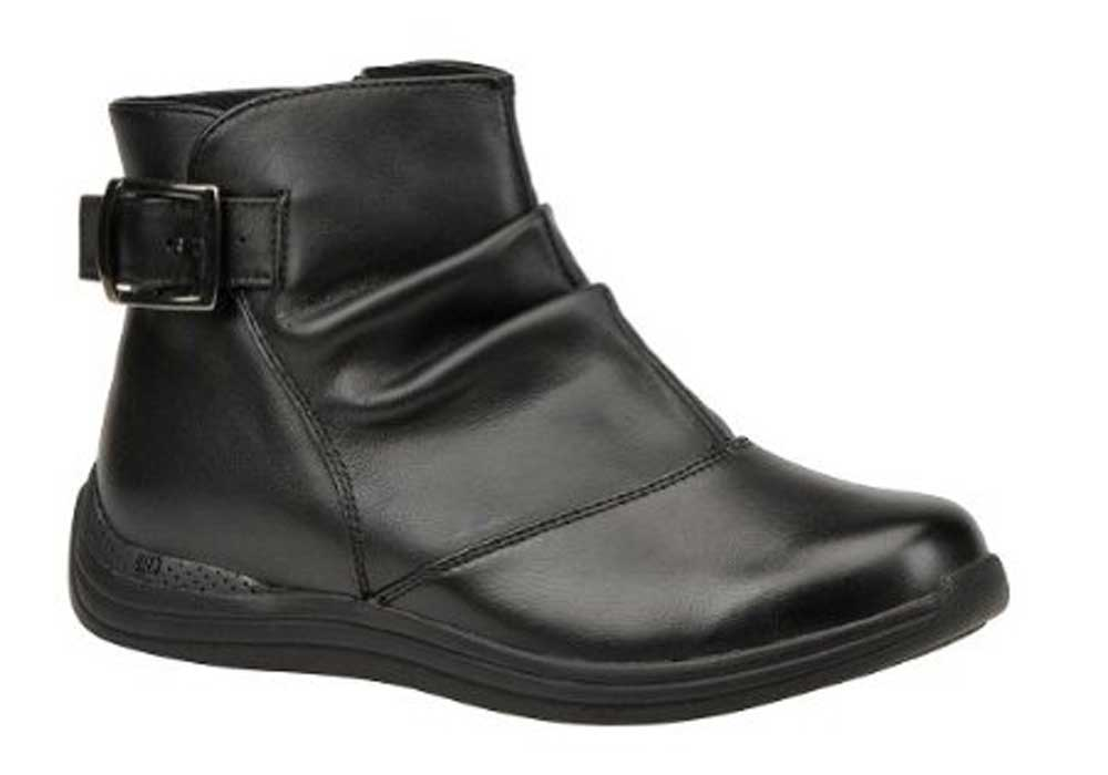 Drew Shoes - Meadow - Black Leather - Boot with Zipper Closure