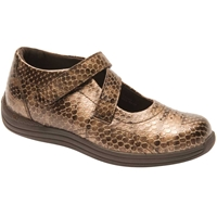 Drew Shoes - Orchid - Bronze Print Leather - Casual, Dress