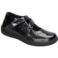 Drew Shoes - Orchid - Black Print Leather - Casual, Dress
