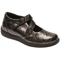 Drew Shoes - Orchid - Grey Marble Leather - Casual, Dress