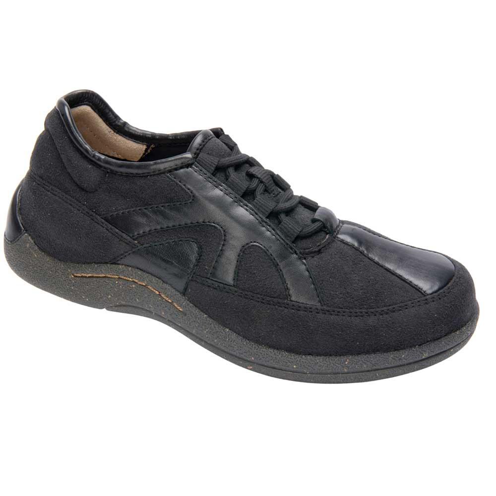 Drew Shoes - Roma - Black Leather / Microfiber - Athletic Shoes ...