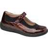 Brown/Croc Patent Leather