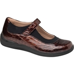 Drew Shoes - Rose - Brown Croc Leather - Casual, Dress