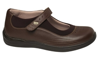 Drew Shoes - Rose - Brown Print Leather - Casual, Dress