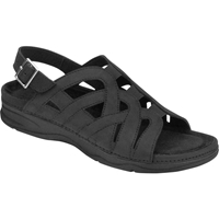 Drew Shoes - Sandy - Black Nubuck Leather - Sandal