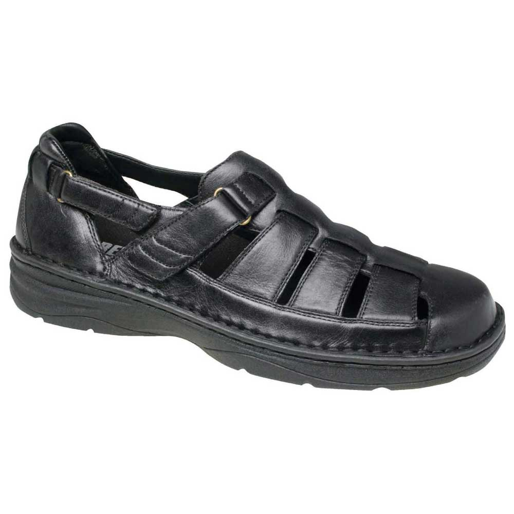 Drew Shoes - Springfield - Black Leather - Sandal