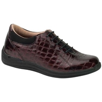 Drew Shoes - Tulip - Brown Croc Patent Leather - Casual, Dress