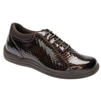Drew Shoes - Tulip - Brown Print Leather - Casual, Dress