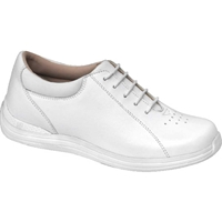 Drew Shoes - Tulip - White Full Grain Leather - Casual, Dress