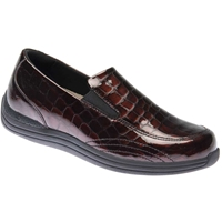 Drew Shoes - Violet - Brown Croc Patent Leather - Casual, Dress