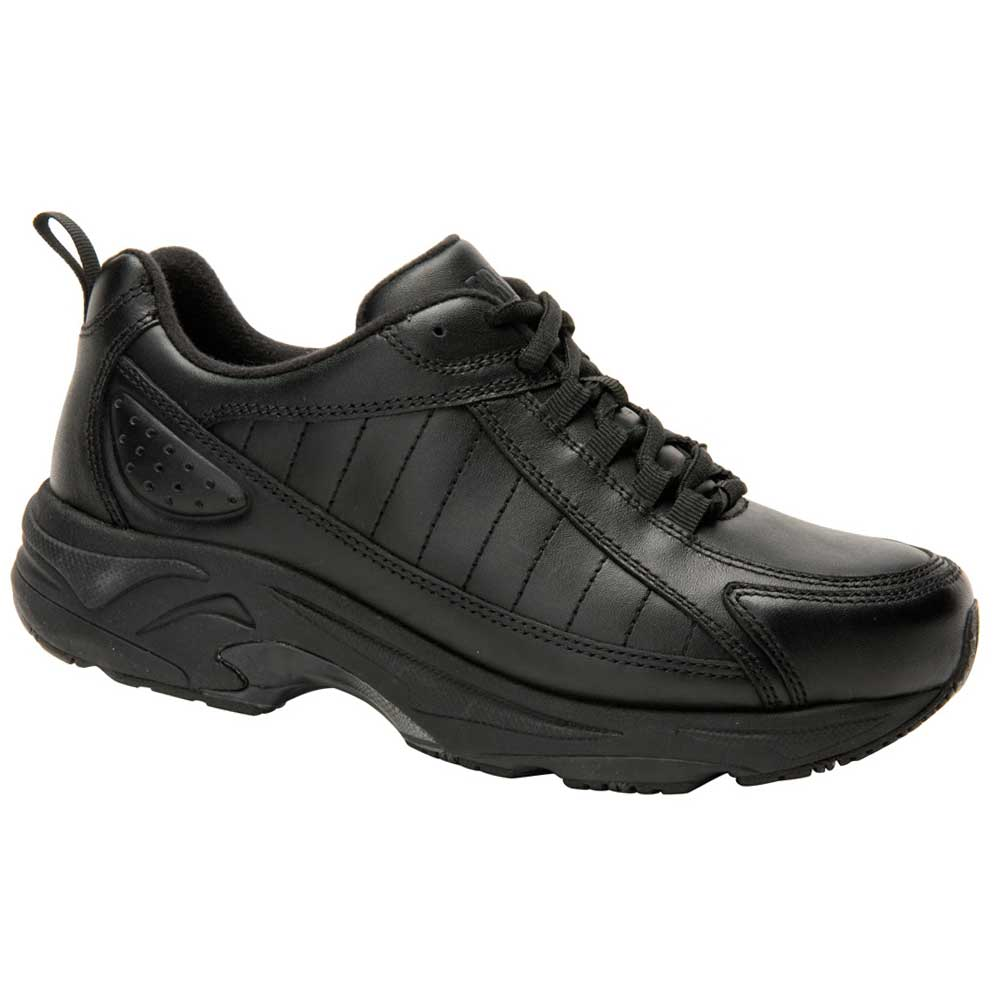 Drew Shoes - Voyager - Black Leather - Athletic Shoe