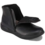 Drew Shoes - Zippy - Black Leather - Boot with Zippers on Both Sides