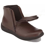Drew Shoes - Zippy - Brown Leather - Boot with Zippers on Both Sides