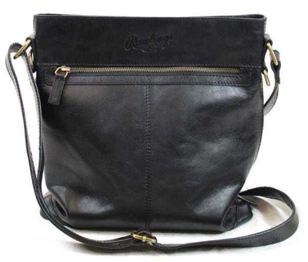 Rawlings Rb60002 001 Vintage Leather Baseball Sch Crossbody Bag