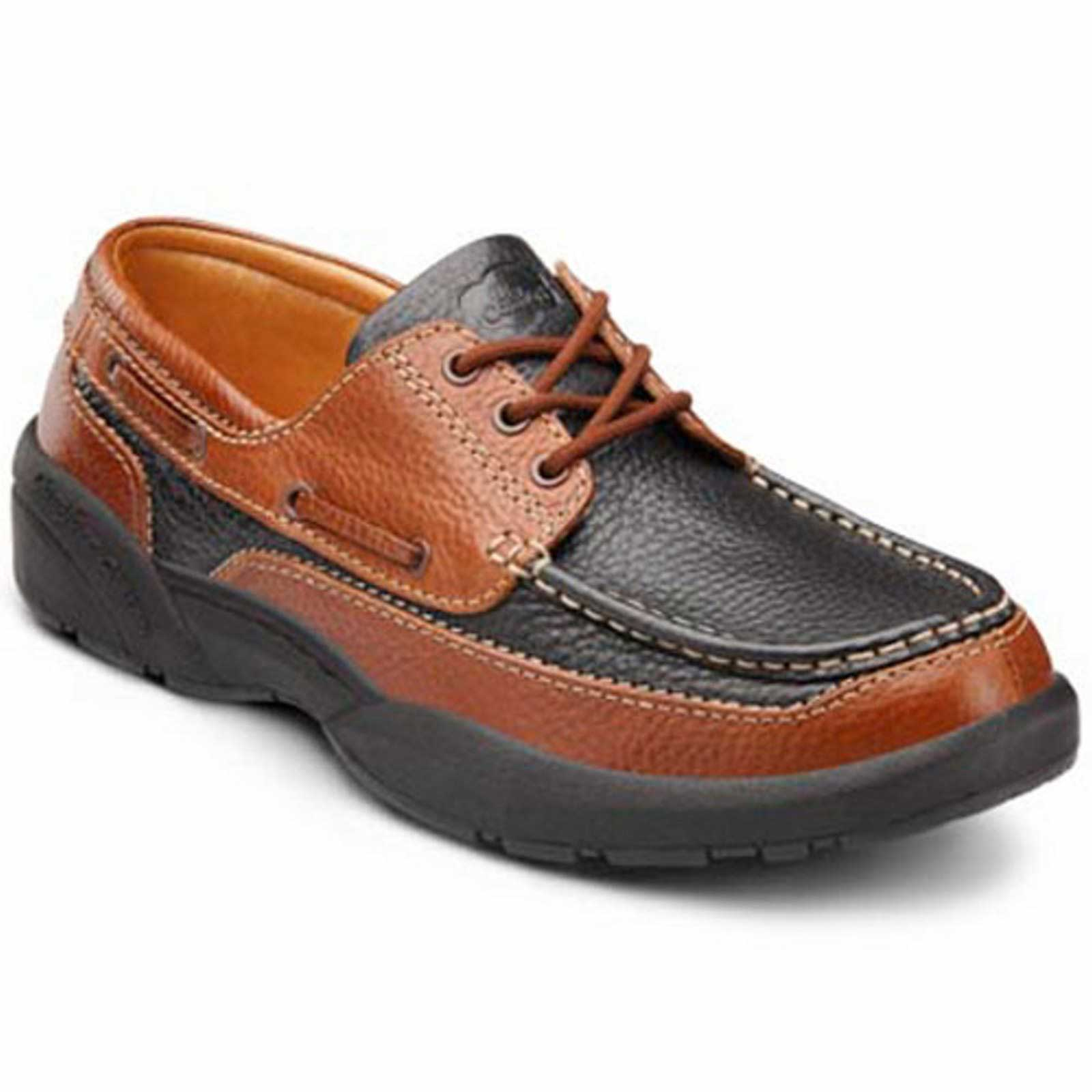 The Dr. Comfort Patrick - Black/Chestnut - Casual and Boat Shoe