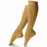 Dr. Comfort - Support & Compression - Sheer Lace Top Hosiery for Women