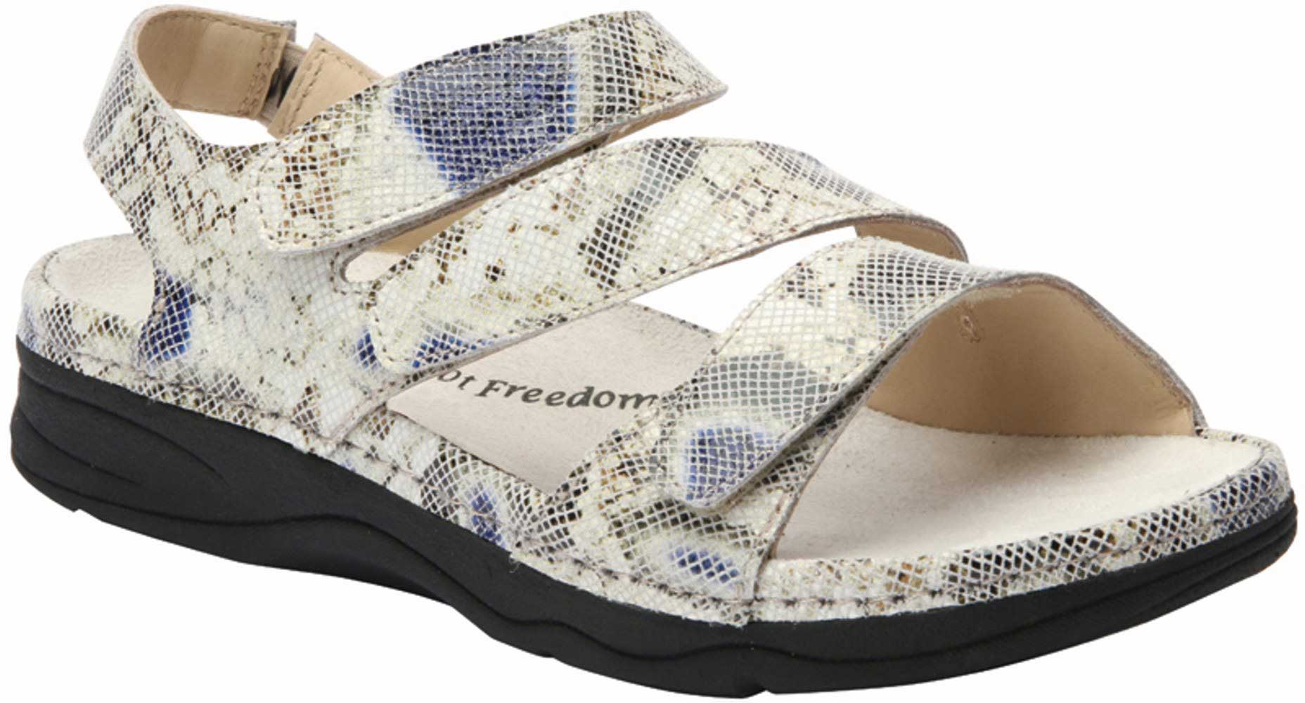 Drew Shoes Angela 17023 - Women's Comfort Therapeutic Diabetic Shoe with Removable Footbed - Sandal - Narrow (AA) - X-Wide (2E) - Extra Depth for Orthotics